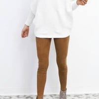 Test Drive Brown High Waist Leggings