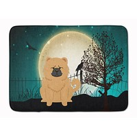 Halloween Scary Chow Chow Cream Machine Washable Memory Foam Mat BB2334RUG