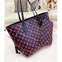 LV Louis Vuitton LV New fashion monogram leather shoulder bag women handbag two piece suit