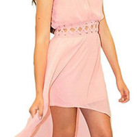 High-Low Caged Cutout Dress