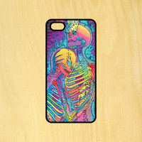 Skeletons Trippy Love Art Phone Case iPhone 4 / 4s / 5 / 5s / 5c /6 / 6s /6+ Apple Samsung Galaxy S3 / S4 / S5 / S6