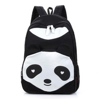 Student Backpack Children 2017 Women Backpack New Spring And Summer Students Backpack Girls Korean Style Backpacks With panda bear High Quality AT_49_3