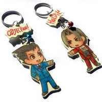 Phoenix Wright charm keychains - choose your favourite character!