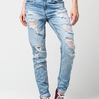 REWASH Destructed Womens Skinny Jeans | Skinny