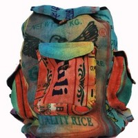 Silly yogi multi recycled jute back pack-Multi-One size