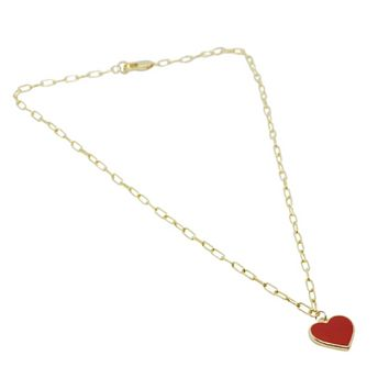 Single Heart Charm Necklace 18""