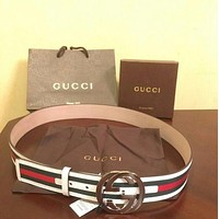 Gucci Belt - white/red/green (Mens Size 36-42)