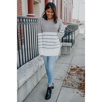 Let's Be Honest Sweater - Taupe