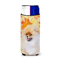 Pomeranian Fall Michelob Ultra Hugger for slim cans BB9943MUK