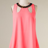 Bejeweled Top Pink