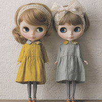 """Kenner Neo Blythe 12"""" Doll Vtg Linen Bustier Dress pdf E PATTERN in Japanese and Pieces Titles in English"""