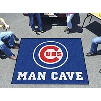 Grill Mat MLB Chicago Cubs Man Cave Tailgater Rug 5'x6'