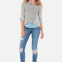 Dittos Kelsey Cuffed and Distressed Skinny Jeans