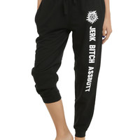 Supernatural Jerk Bitch Assbutt Girls Pajama Pants