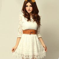 New sweet lady floral lace skirt LYQ0016 from doshow4you