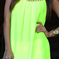 Glow For Me Tank: Neon Yellow   Hope's