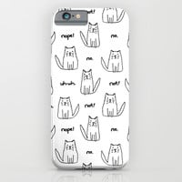 Little Cats with Bad Attitudes iPhone & iPod Case by TigaTiga Artworks