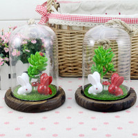 Creative Gifts Resin Home Big Size Rabbit Glass Home Decor [6282377734]