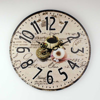 Brand kitchen wall clock with waterproof clock face coffee decorative dining room wall clock modern design home watches gift
