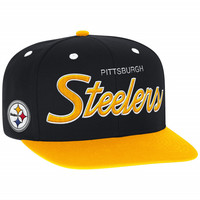 Script Snapback Pittsburgh Steelers Mitchell & Ness Nostalgia Co.