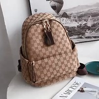 Gucci classic double G logo backpack for men and women