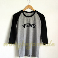 Drake Views Shirt Views From The 6 Shirt Baseball Raglan 3/4 Tee Shirts Tshirt Unisex Size