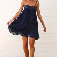 Kiss You Dress Navy