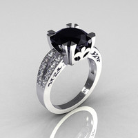 Modern Vintage 10K White Gold 30 Carat Black and by artmasters