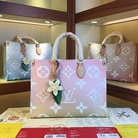 LV Louis Vuitton 2021 NEW ARRIVALS MONOGRAM LEATHER BY THE POOL ONTHEGO MM TOTE BAG SHOULDER BAG