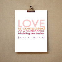 LOVE iS 1 inspirational love quote typographic by typeandimage