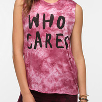 Urban Outfitters - 2x3 Who Cares Tie-Dye Muscle Tee