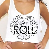 Ready To Roll rave inspired crop tank top