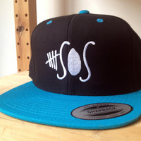 5 Seconds of Summer Snapback Cap.  Choose your colour by SnappyD