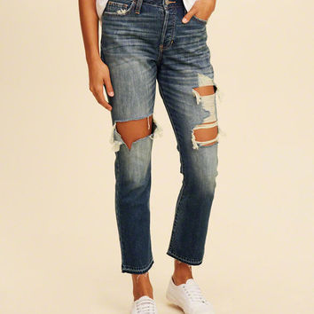 Girls High-Rise Vintage Straight Jeans | Girls New Arrivals | HollisterCo.com