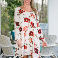 All I Need To Grow Dress, Red