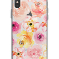Watercolor Pink Flowers Floral iPhone Case