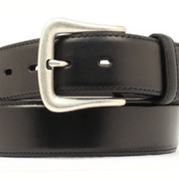 Nocona Men's Smooth Leather Belt in Brown and Black