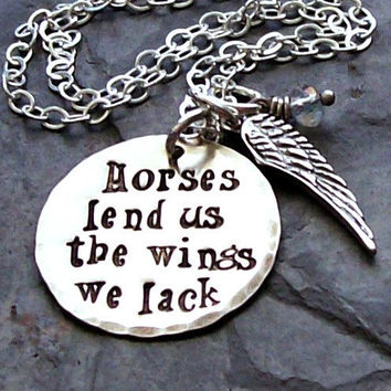 Handstamped Sterling Silver Horse by EquineExpressionsbyD on Etsy