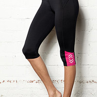 Reflective Skinny Workout Capris