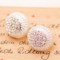 A 082611 Women's Diamond Earrings Cute Earrings Small Jewelry
