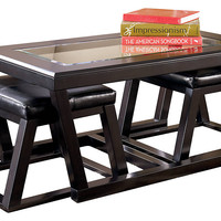 Kelton Occasional Tables - Cocktail Table with 2 Stools (3/Cn) or End Table