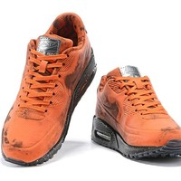 NIke Air Max 90 Orange Men Fashion Casual Sports Shoes Size 40-46