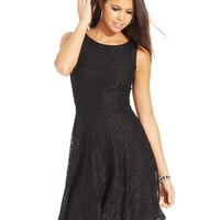 Speechless Juniors' Glittered Lace Dress (Only at Macy's)