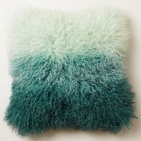 Ombre Luxe Fur Pillow by Anthropologie
