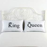 Couple Hot Sale White Crown Bedding Cushion [9393096204]