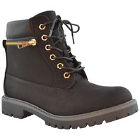 Womens Ankle Boots Rugged Zipper Accent Lace Up Hiking Shoes black