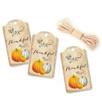 Thanksgiving Hang Tags - Fall Party Favor Tags - Pack of 10