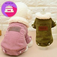 New Autumn and Winter Pet Dog Clothes Cashmere Warm Lovers Jacket Dog Clothes for Small and Medium Dog Clothes (coffer,dull Red)