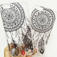 Transparent Henna Skin Case For iPhone 6, 6s, 6 Plus and 6s Plus