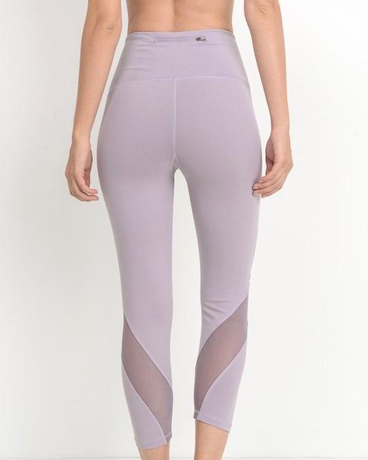 Image of Final Sale - Active Hearts - Wave Mesh High Waist Sports Leggings in Lavender